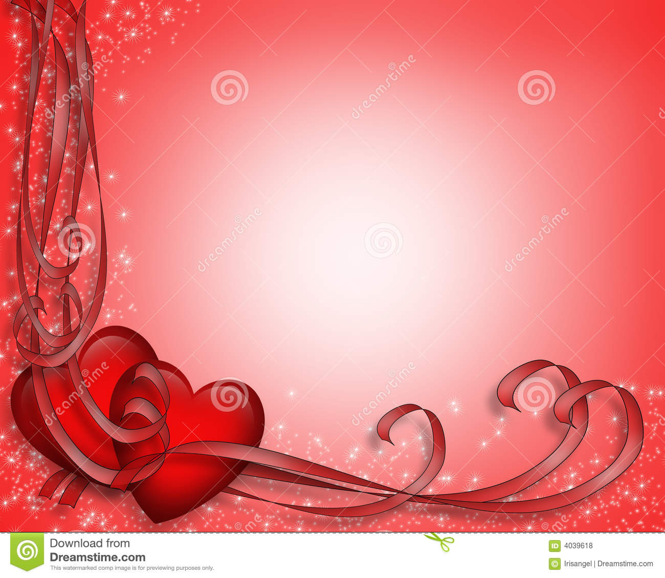 Valentine Hearts Border Ribbons Royalty Free Stock Photos - Image ...