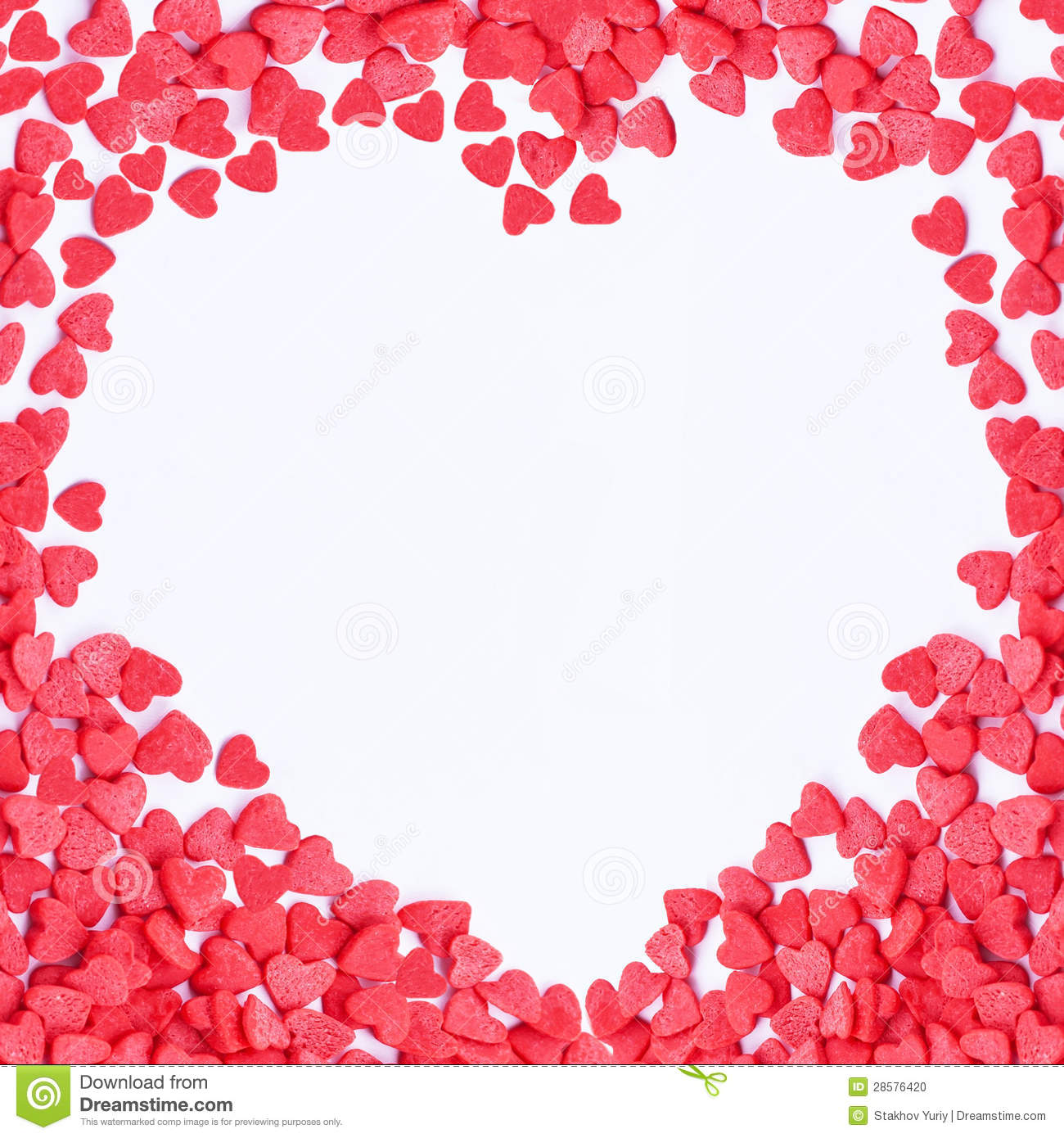Valentine hearts frame stock photo. Image of composition - 28576420