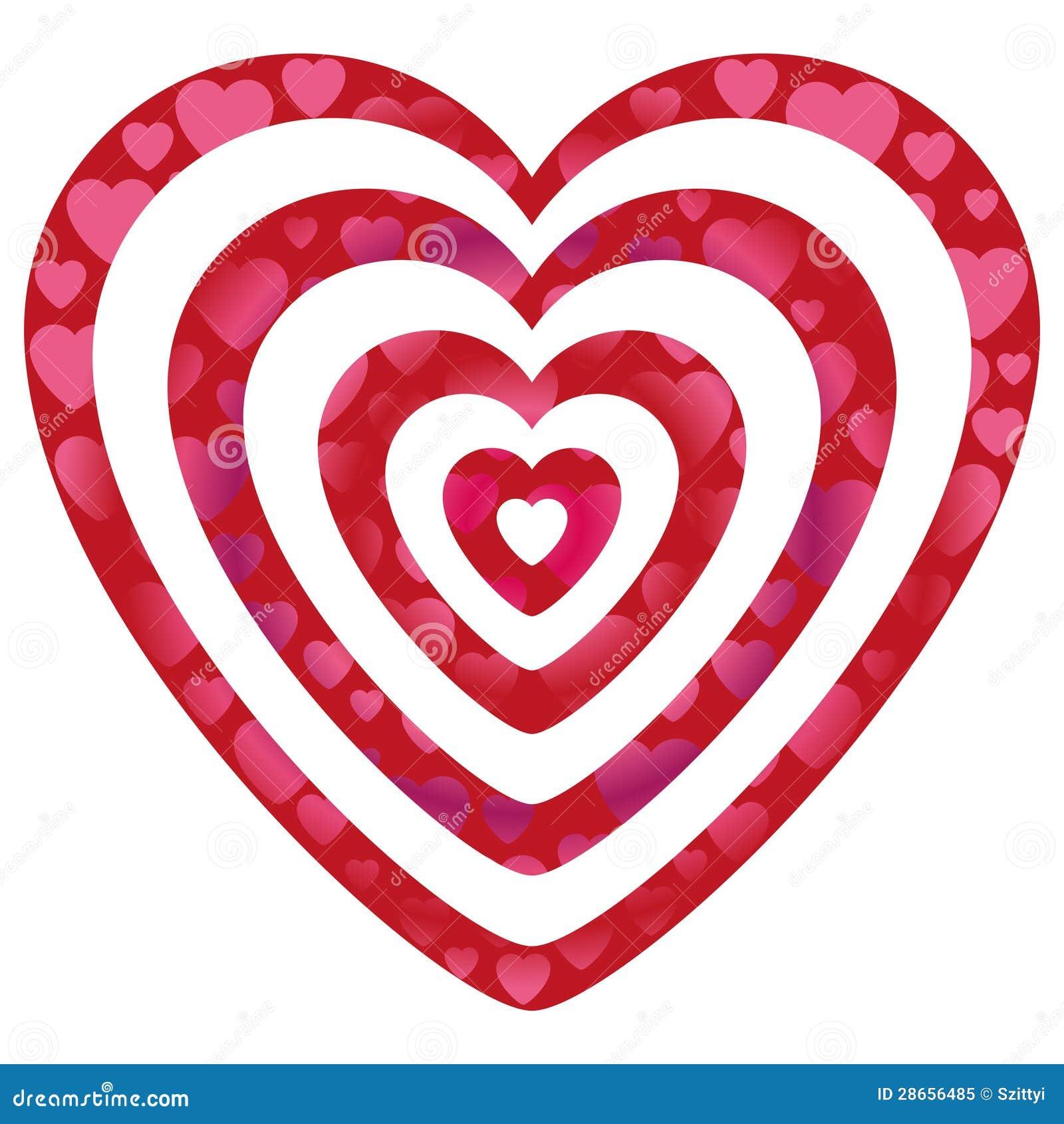 valentine hearts on heart shapes