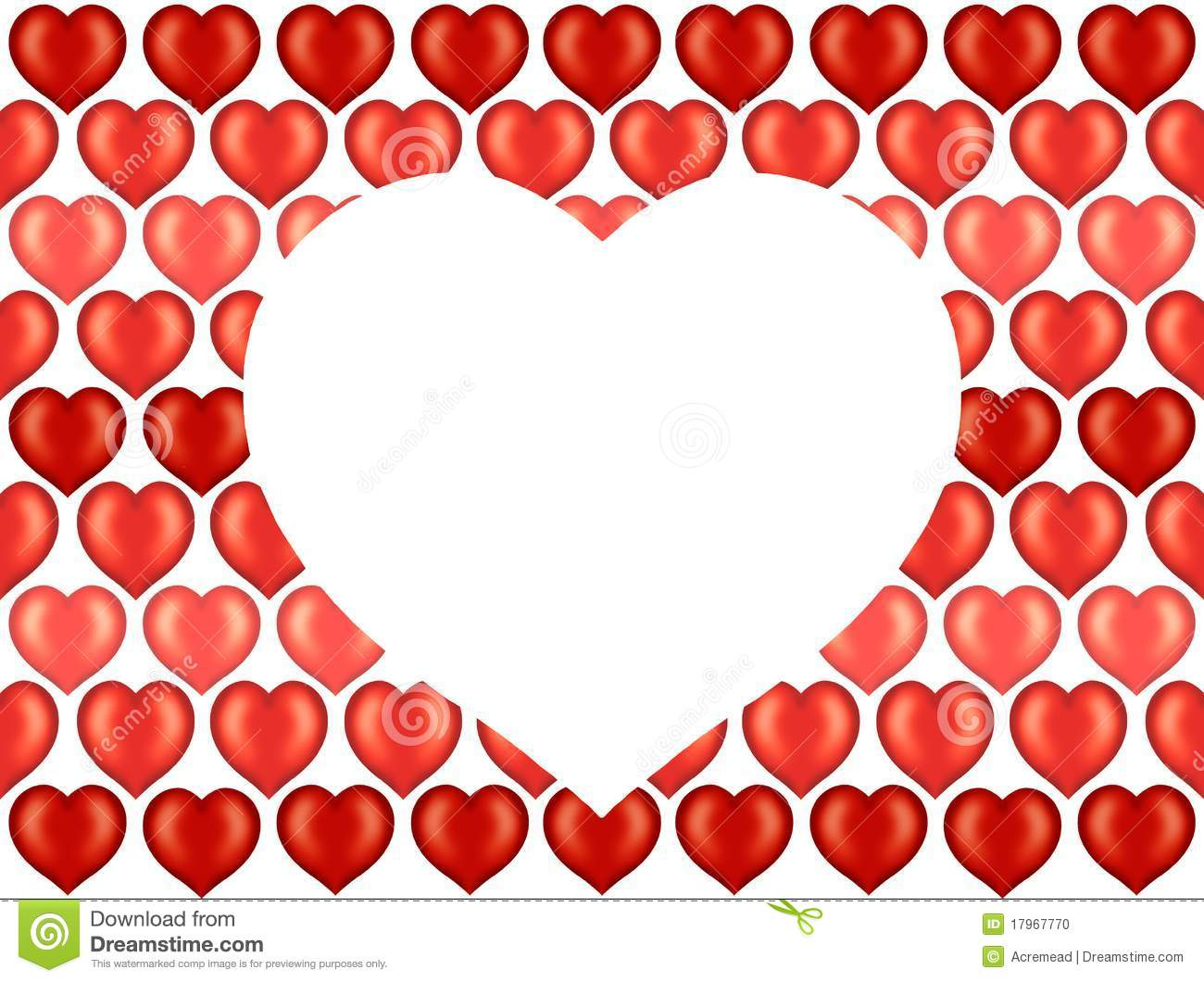 Valentine Hearts Wallpaper, Background Stock Photo - Image: 17967770