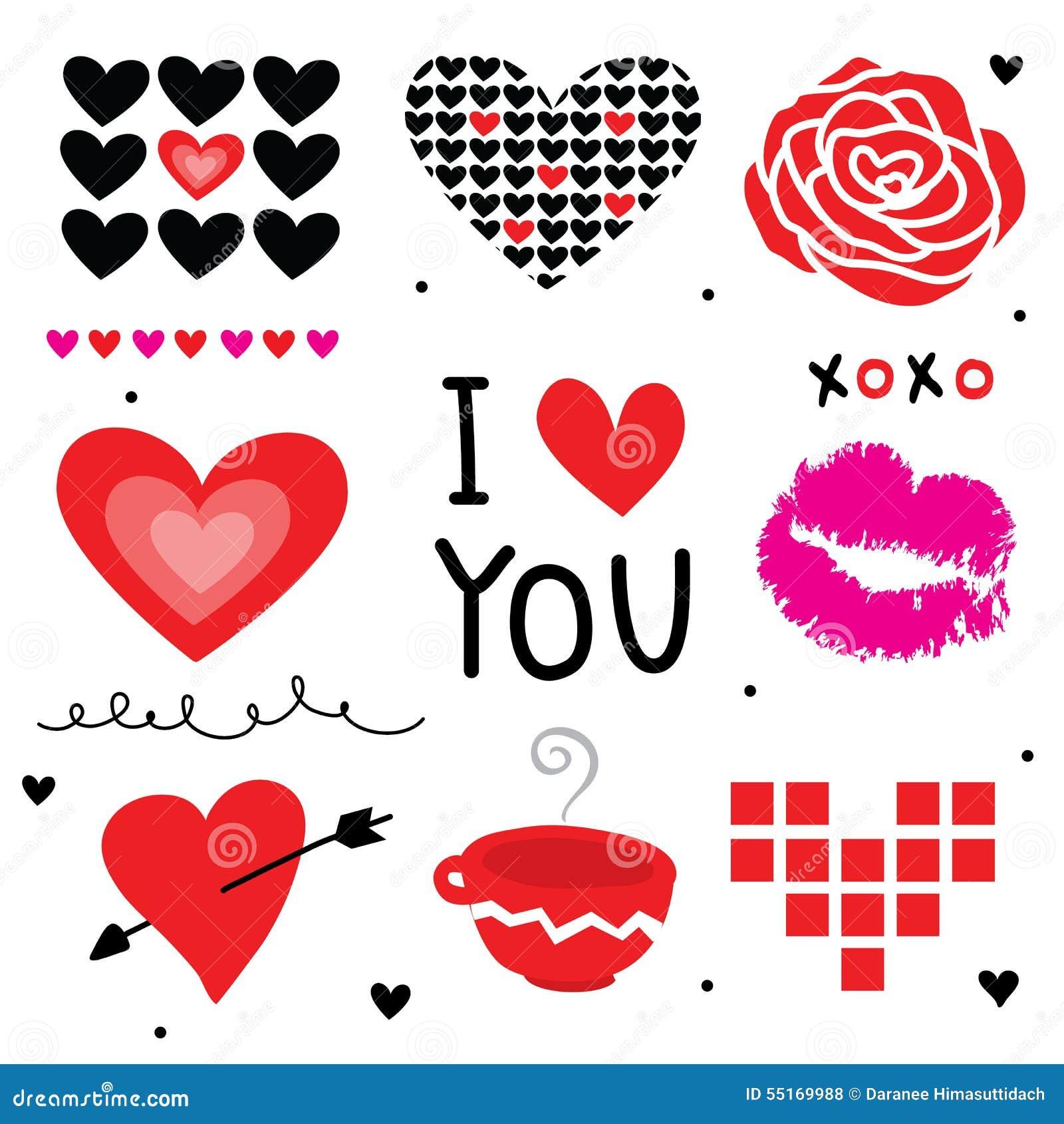 Valentine I Love You Sweetheart Cute Cartoon Vector Stock ...