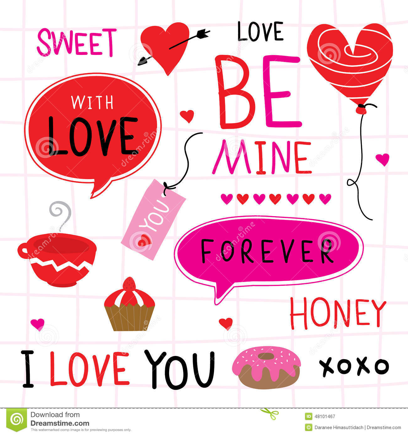 valentine i love you sweetheart cute cartoon vector royalty free stock photography - Happy Valentines Day Sweetheart