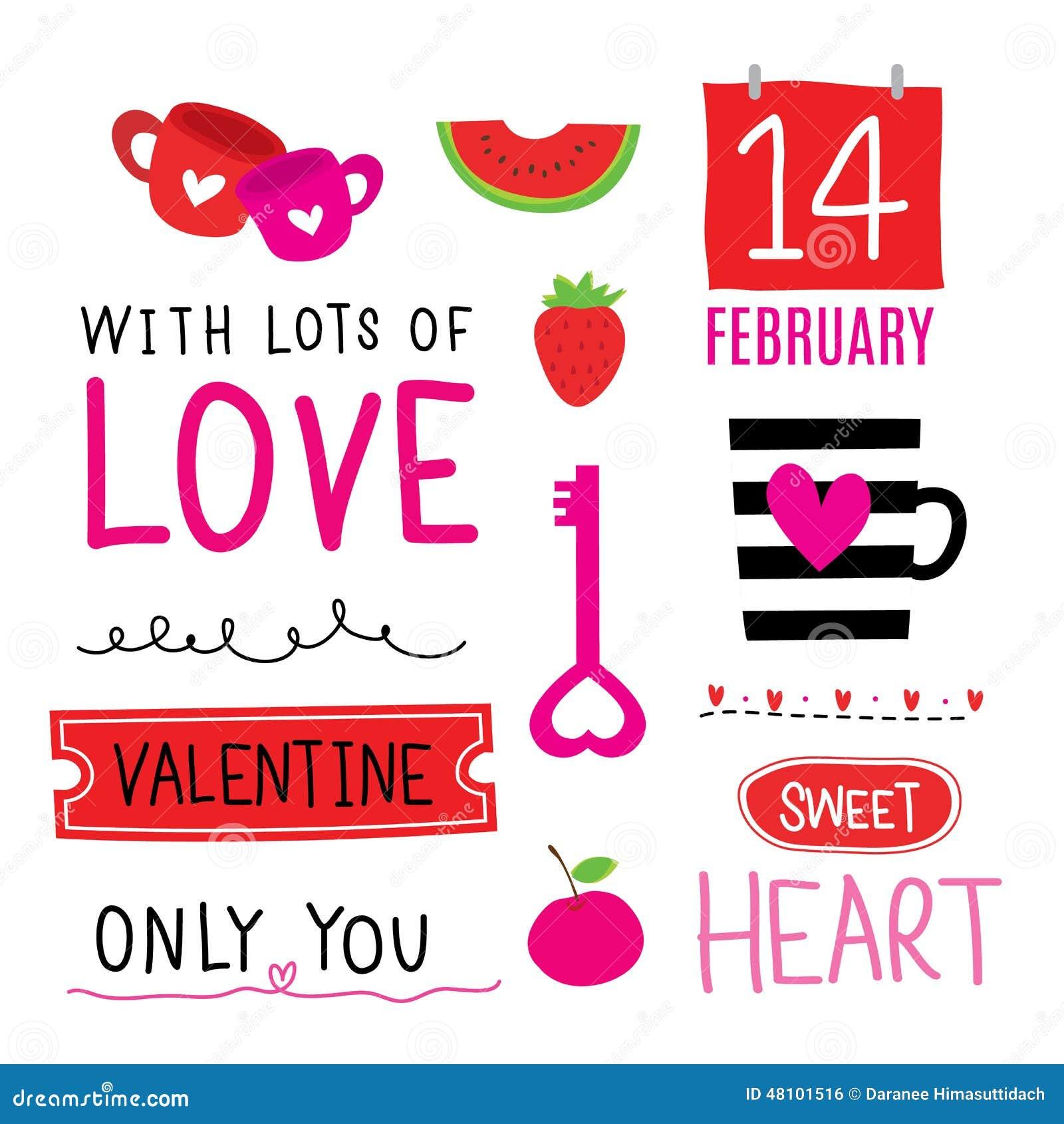 Valentine I Love You Sweetheart Cute Cartoon Vector Stock Vector ...