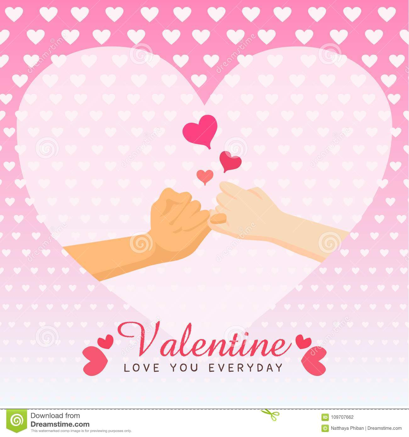 Valentine Stock Vector Illustration Of Holiday Banner 109707662