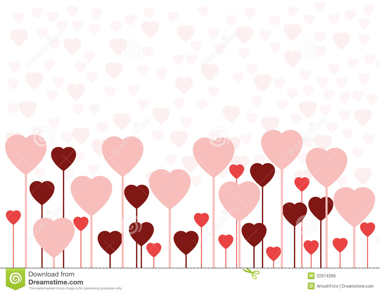 Valentine Love Card Or Background Stock Vector Illustration Of