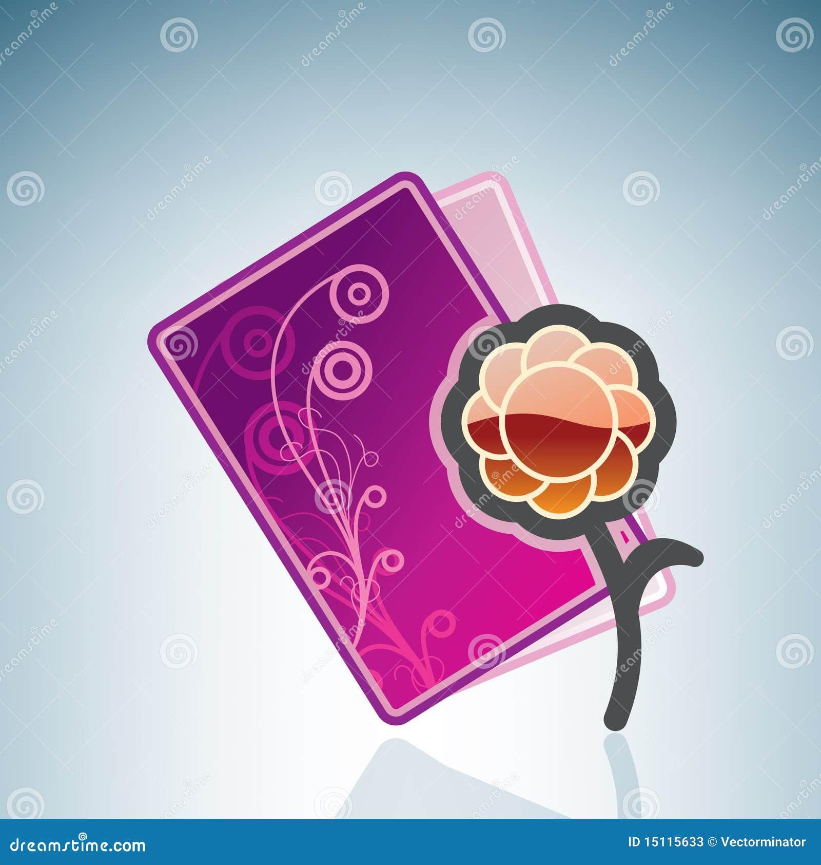 valentinelove card  a flower stock vector  illustration