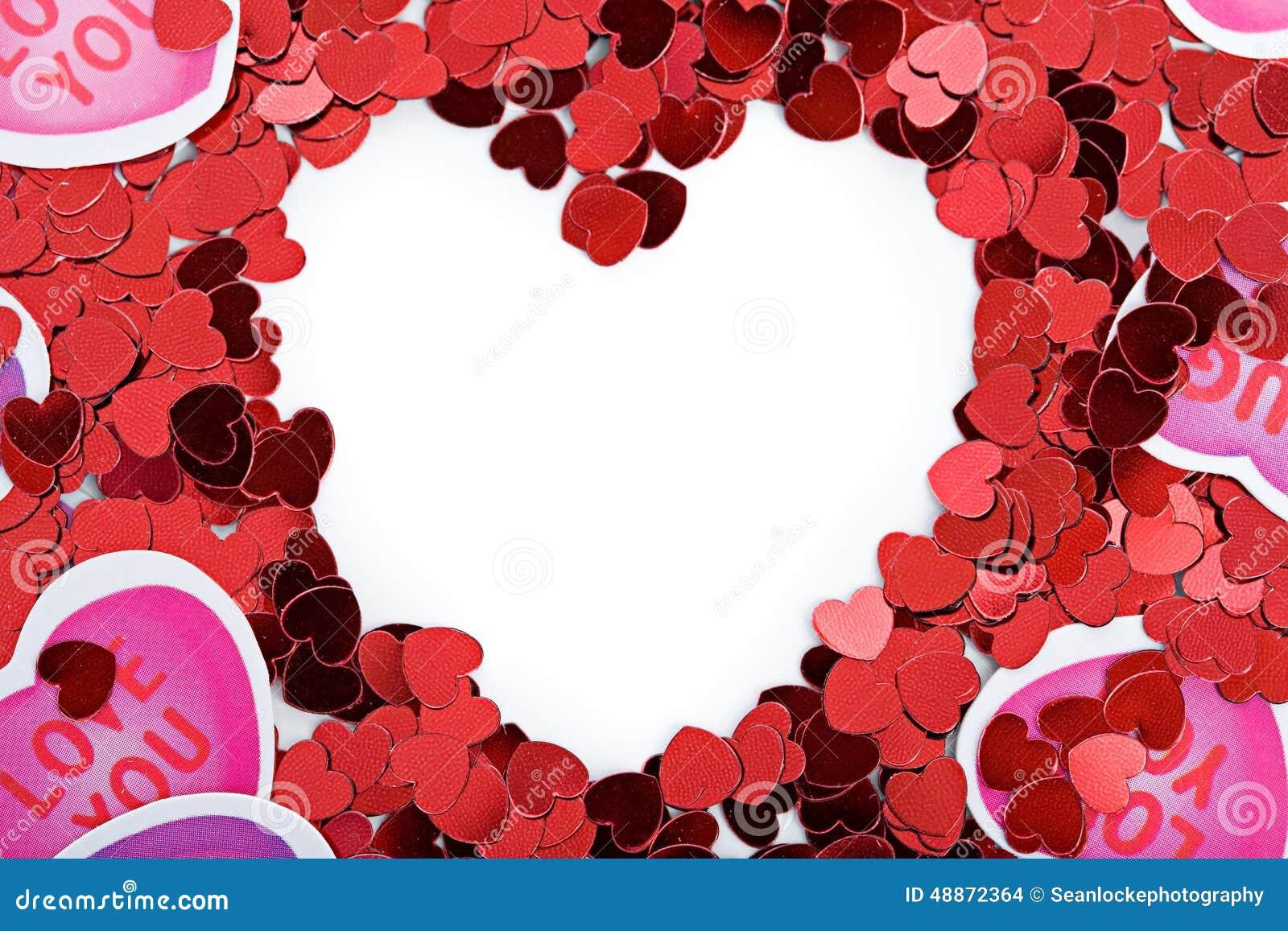 Valentine: Paper Heart Valentine Frame Or Border Stock Photo - Image ...