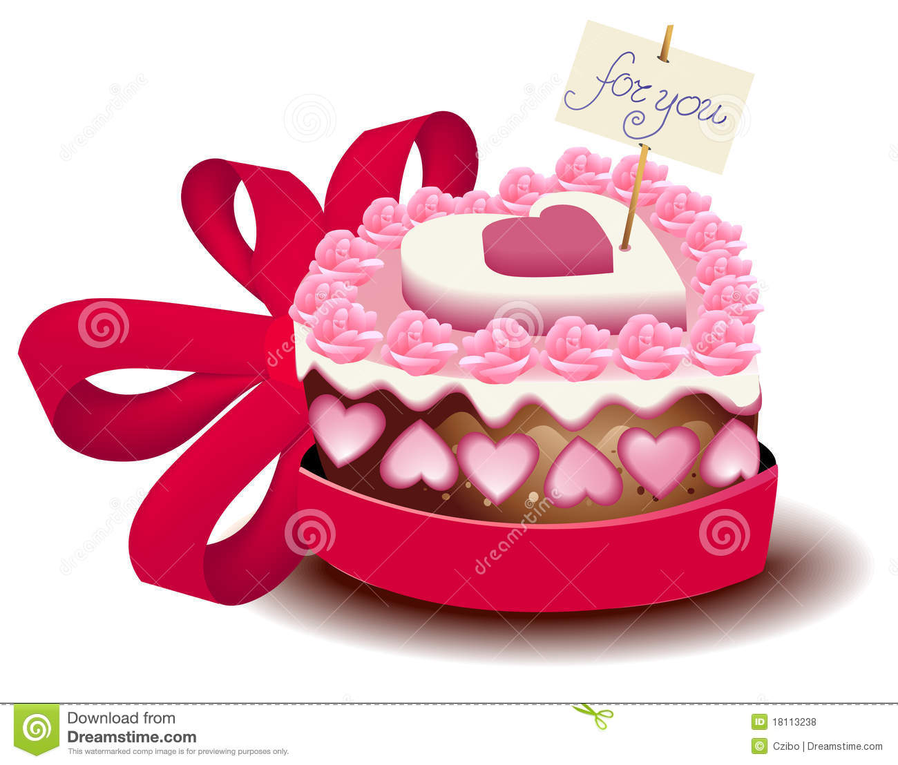 Valentine Cake Clip Art : Valentine s cake stock vector. Image of cake, light ...