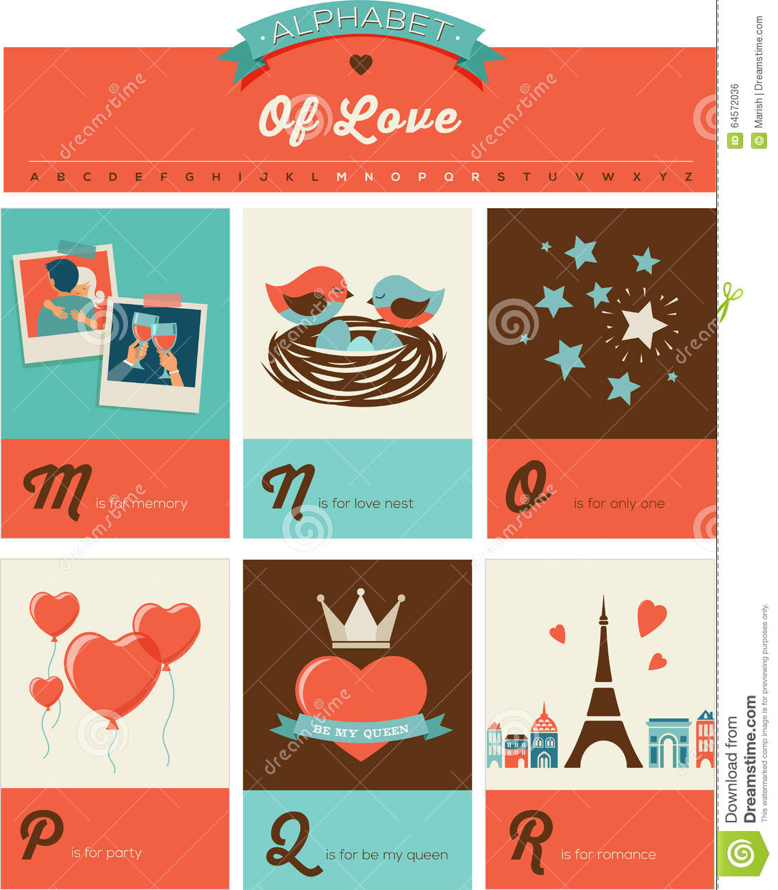 Valentines day abc alphabet poster stock vector illustration of valentines day and love abc alphabet poster and greeting cards m4hsunfo