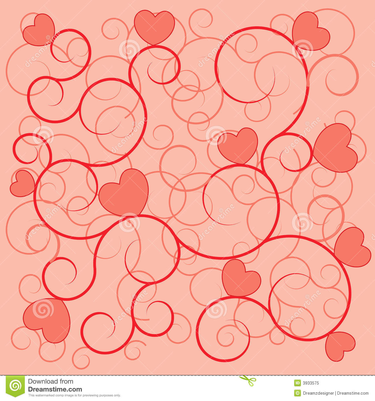 Valentine s day background red hearts