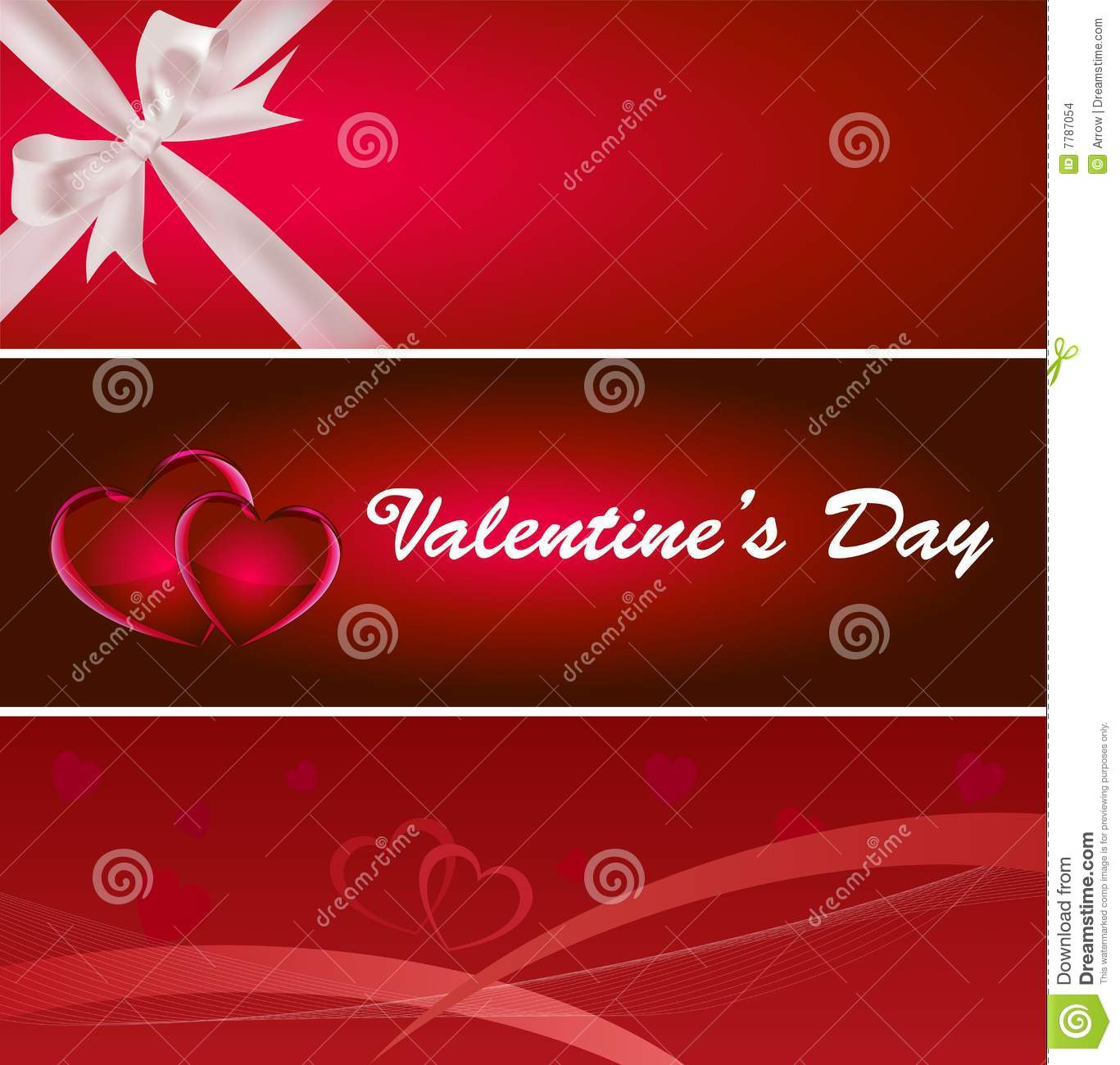 Valentine's Day Banner Stock Images - Image: 7787054