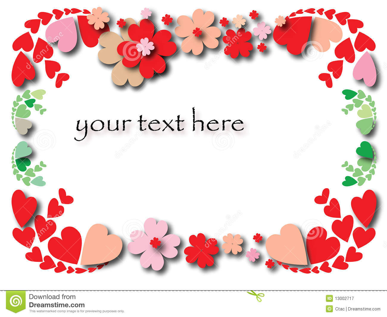 Valentine's Day Border Royalty Free Stock Photography - Image ...