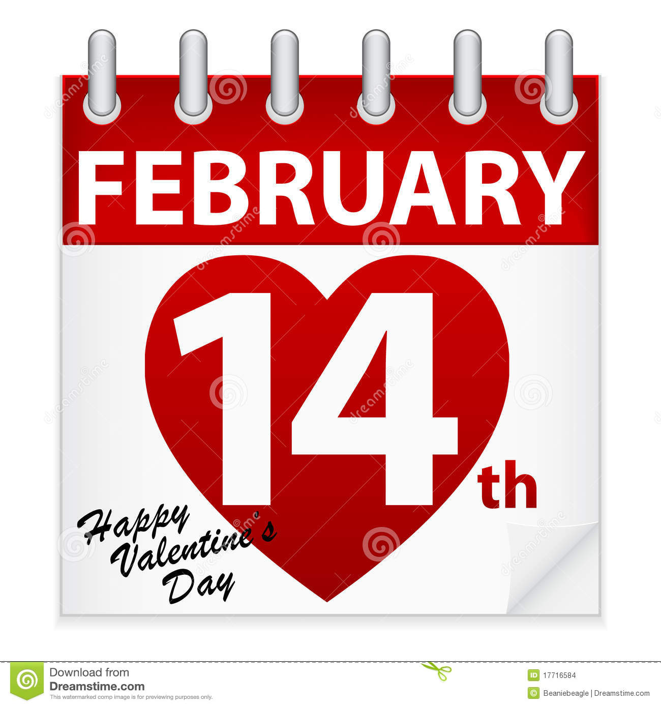 Valentine's Day Calendar Stock Images - Image: 17716584