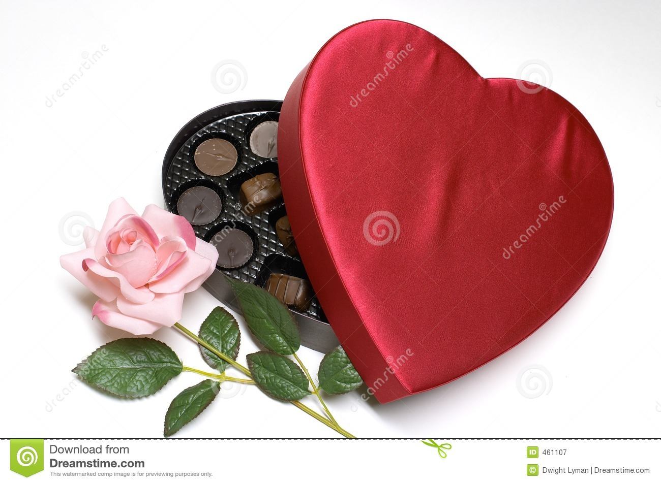 Valentine S Day Candy Heart And Rose Royalty Free Stock