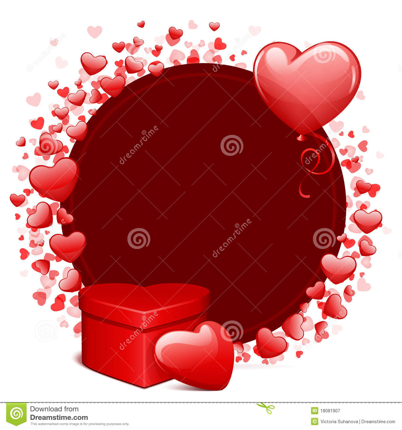 Valentine S Day Card With Balloon Heart ...