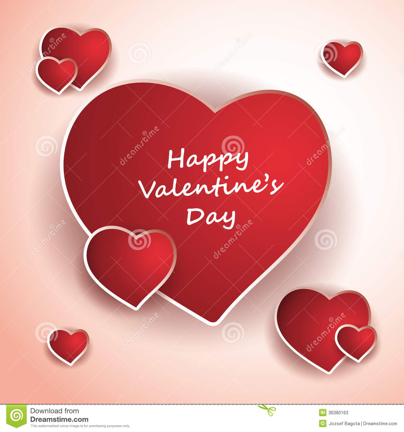 Valentine's Day Card Or Cover Design Stock Photos - Image: 36380163