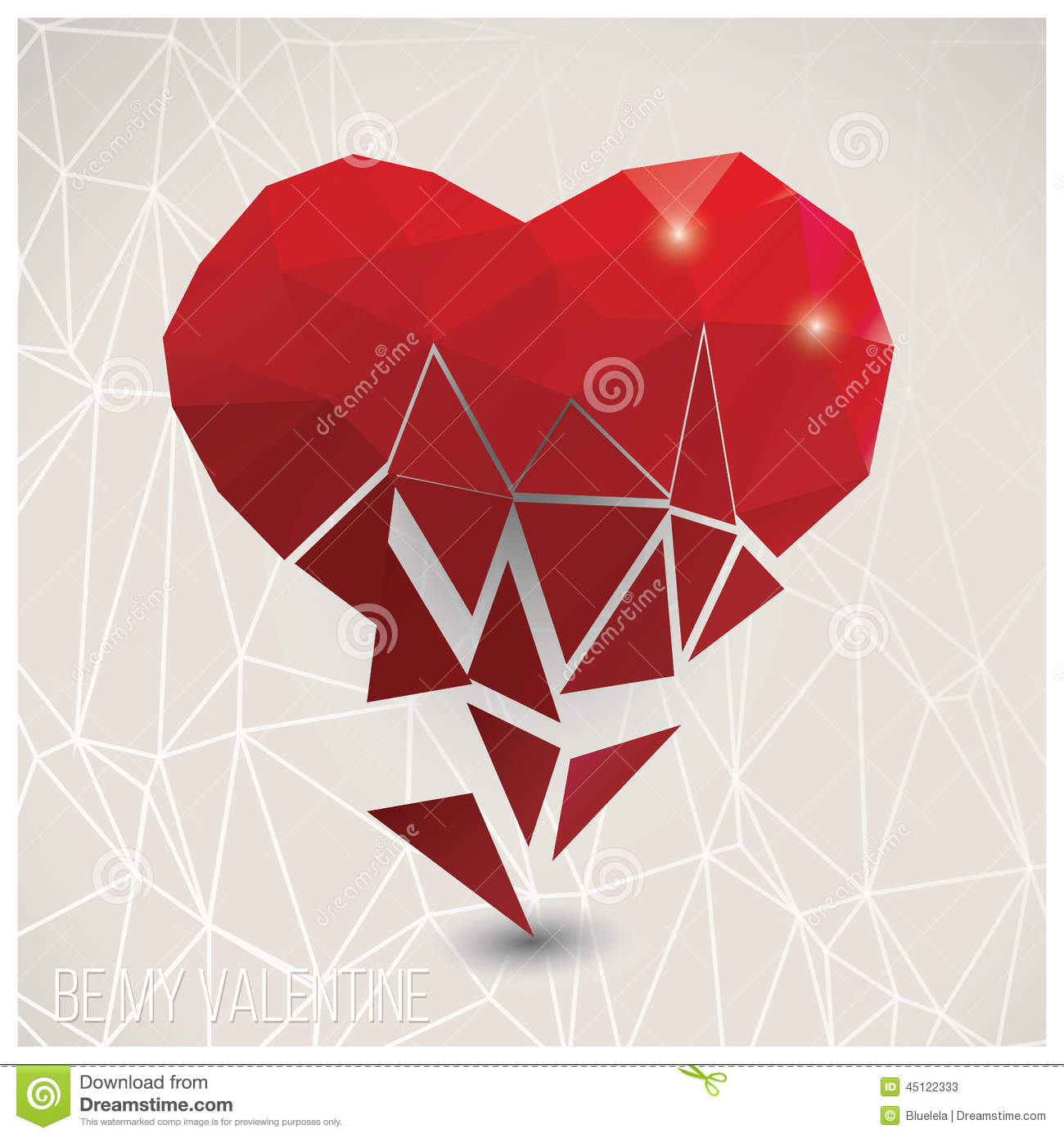 Valentines Day Card, Geometric Triangle Pattern, Label