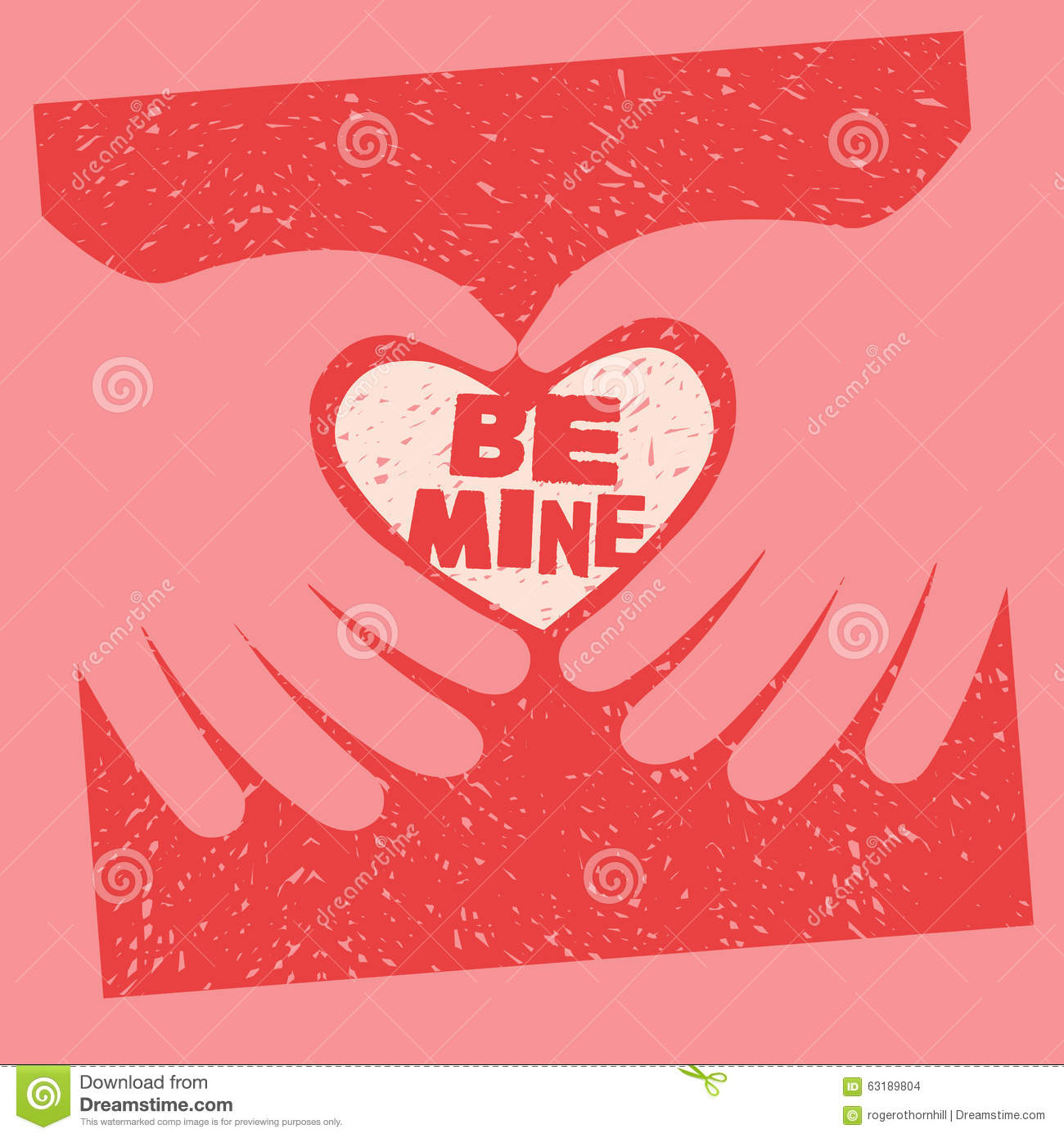 Valentines Day Card With Message Be Mine Vector Image – What to Right on a Valentine Day Card