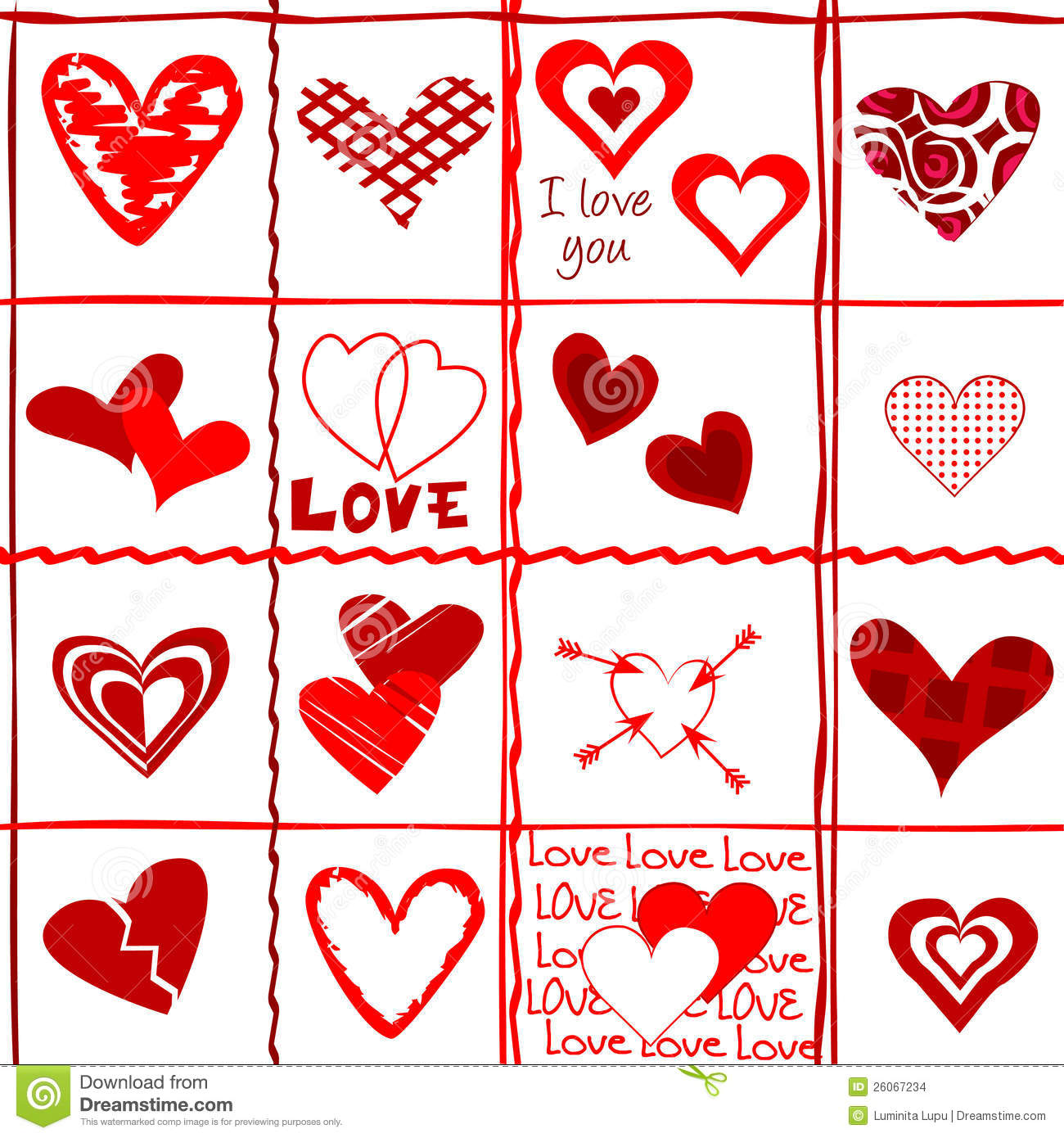 Valentine S Day Card Wrapping Paper Stock Vector Illustration Of