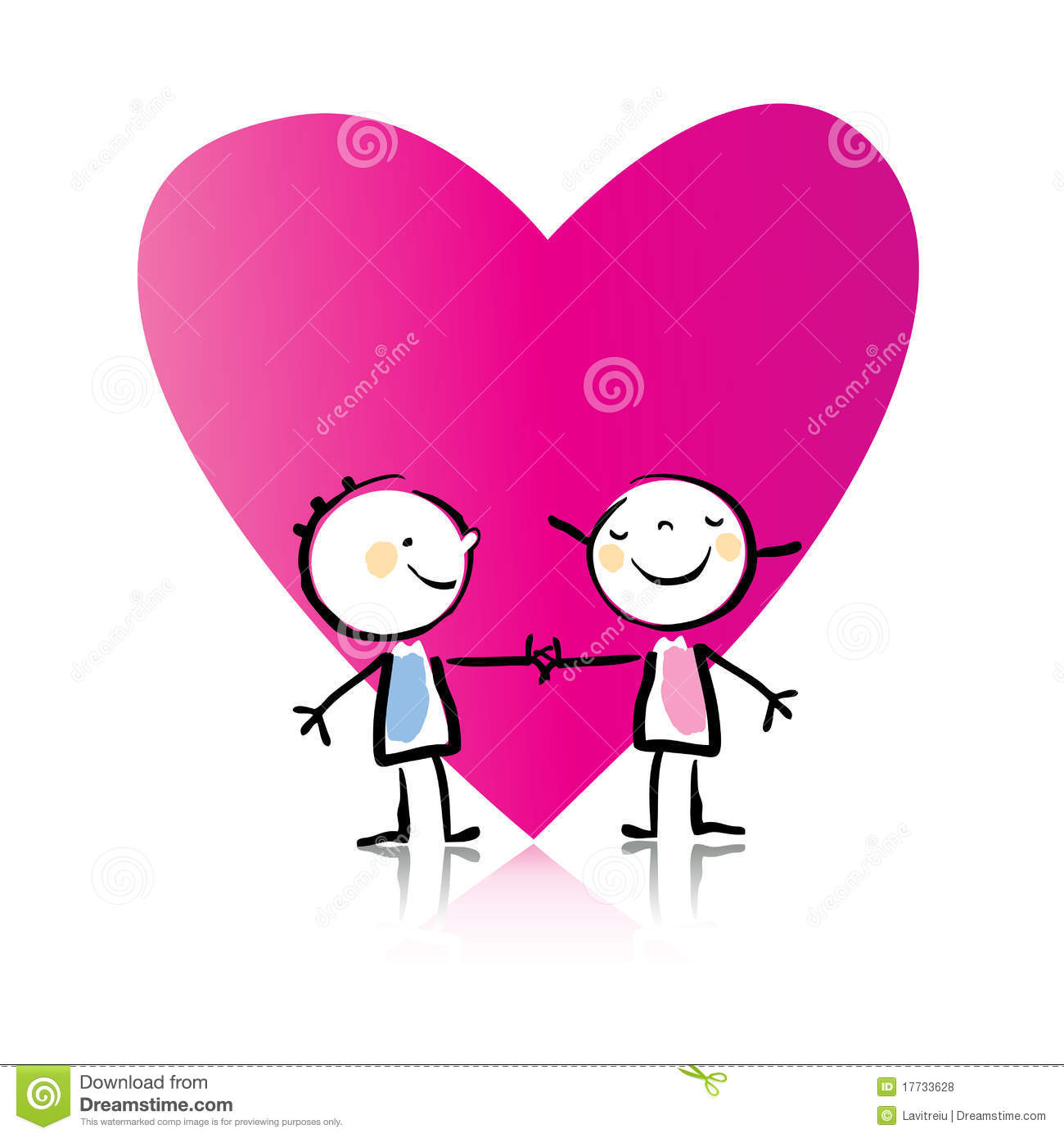 Valentine S Day Cartoon Stock Vector Illustration Of Childish
