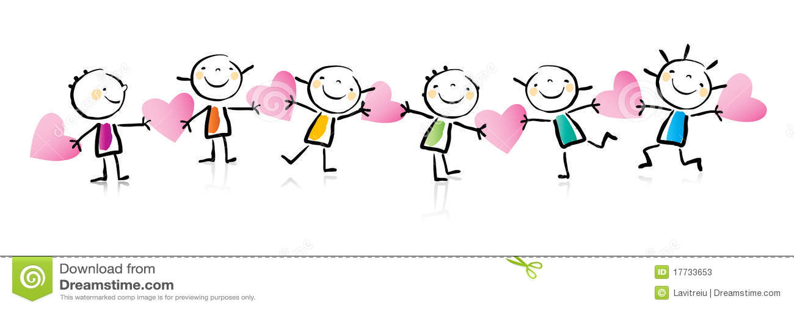 Valentine S Day Cartoon Stock Vector Illustration Of Line 17733653