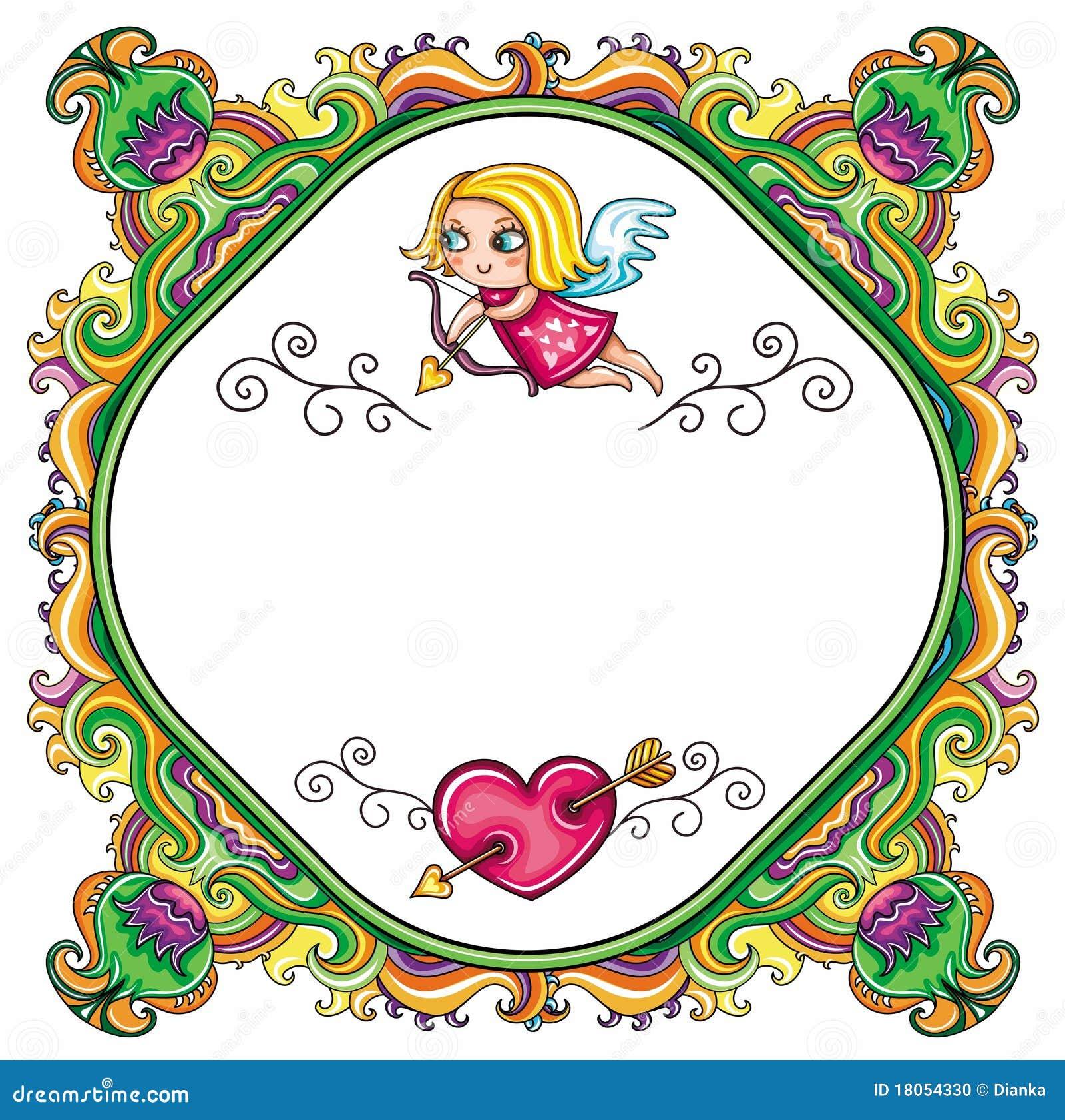 Valentine s Day cartoon floral farme