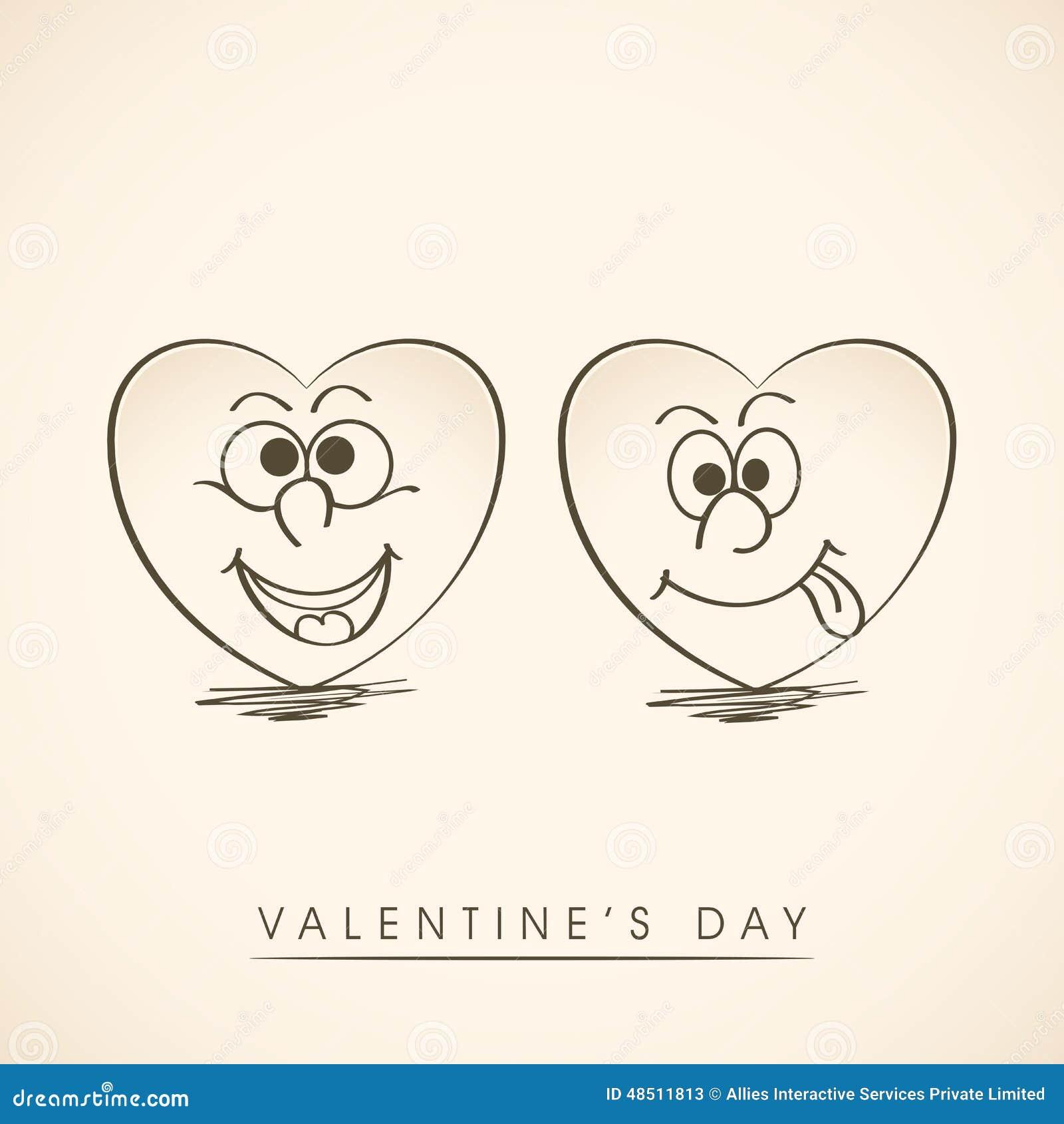 Funny Hearts Cartoon Vector   CartoonDealer.com #17721239