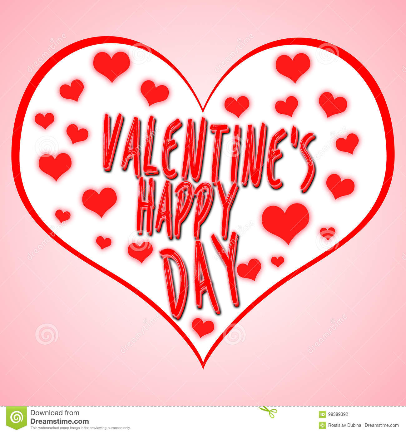 Valentine`s day concept illustration with heart symbol suitable for advertising and promotion. Happy valentines day and weeding .