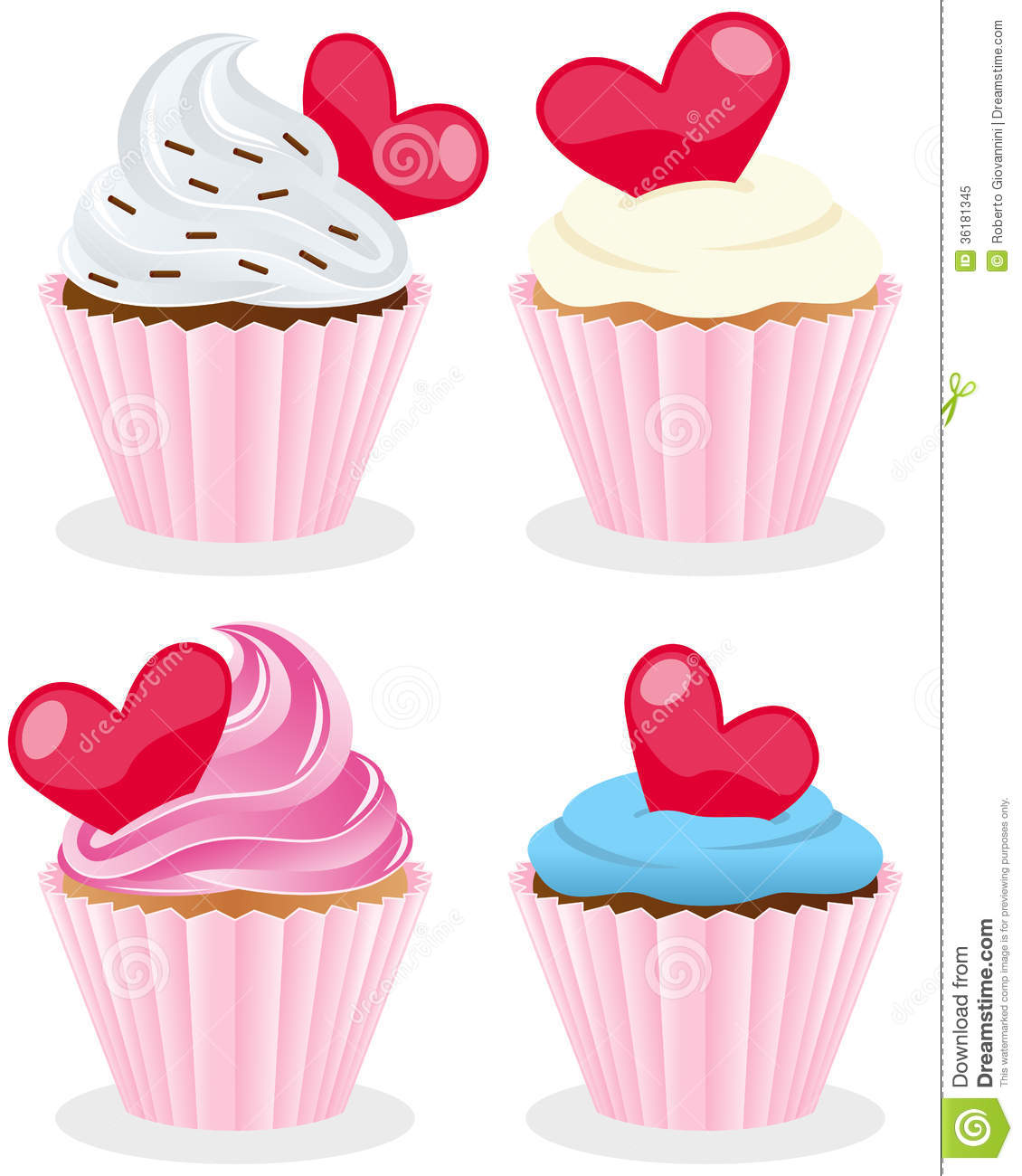 Valentine s Day Cupcakes Collection