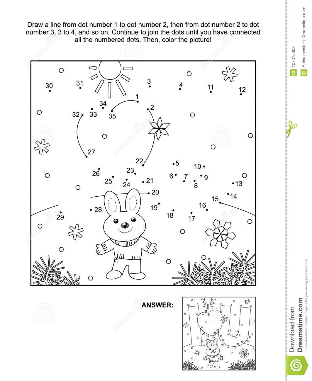 Valentine`s Day Dot-to-dot And Coloring Page With I Love You Hidden ...