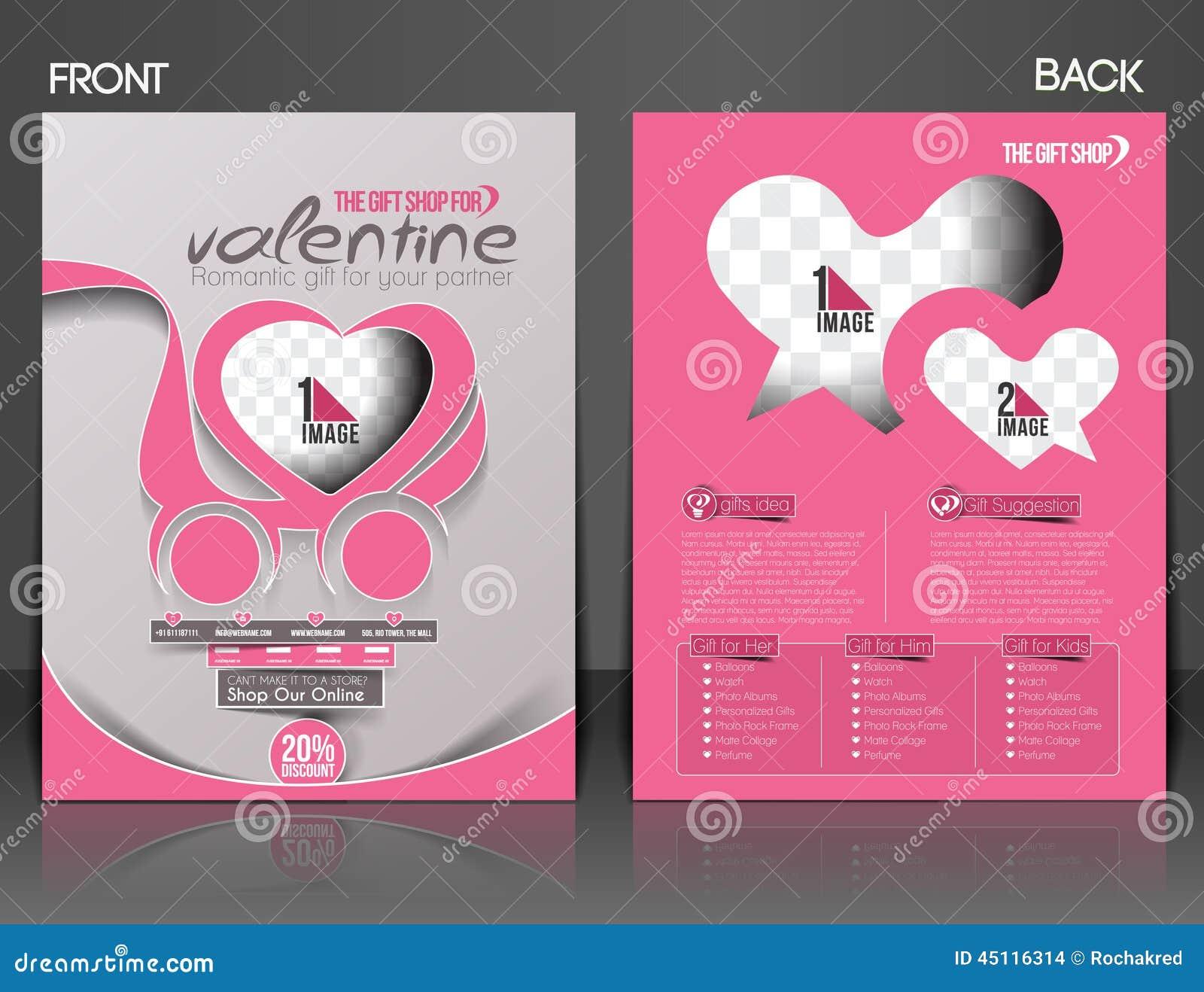 Valentine's Day Flyer Stock Vector