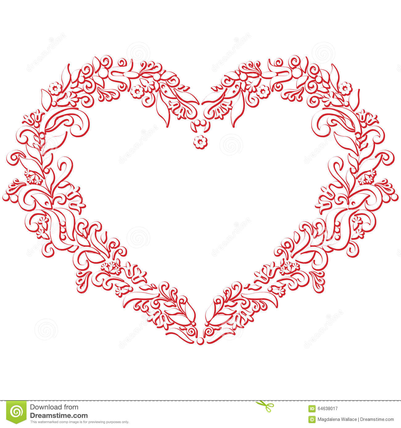 Valentine S Day Folk Embroidery And Cutout Inspired Heart Shape