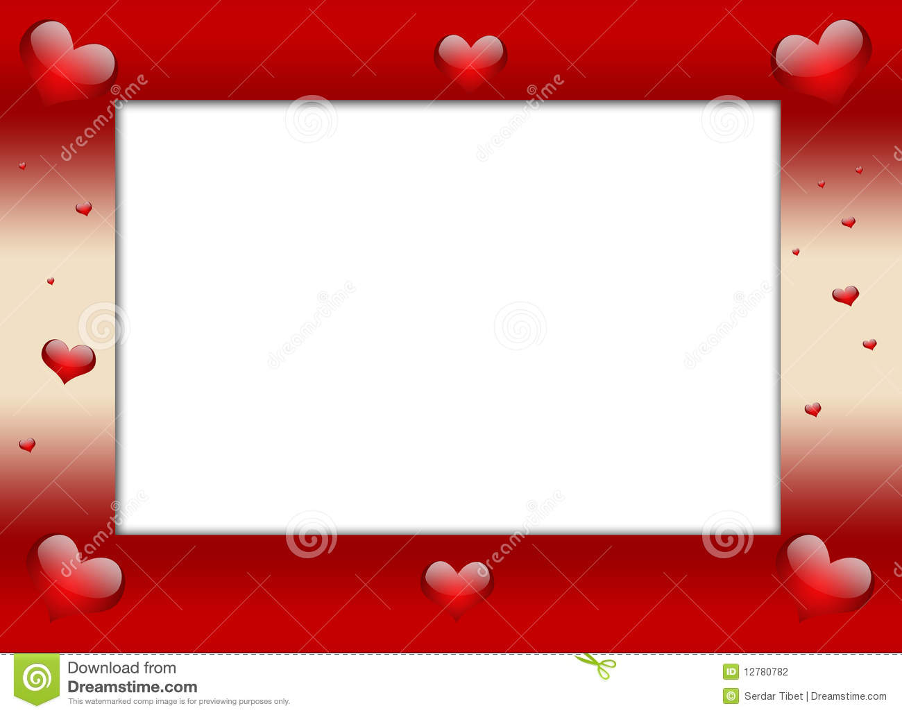 valentines day frame stock photographyimage12780782