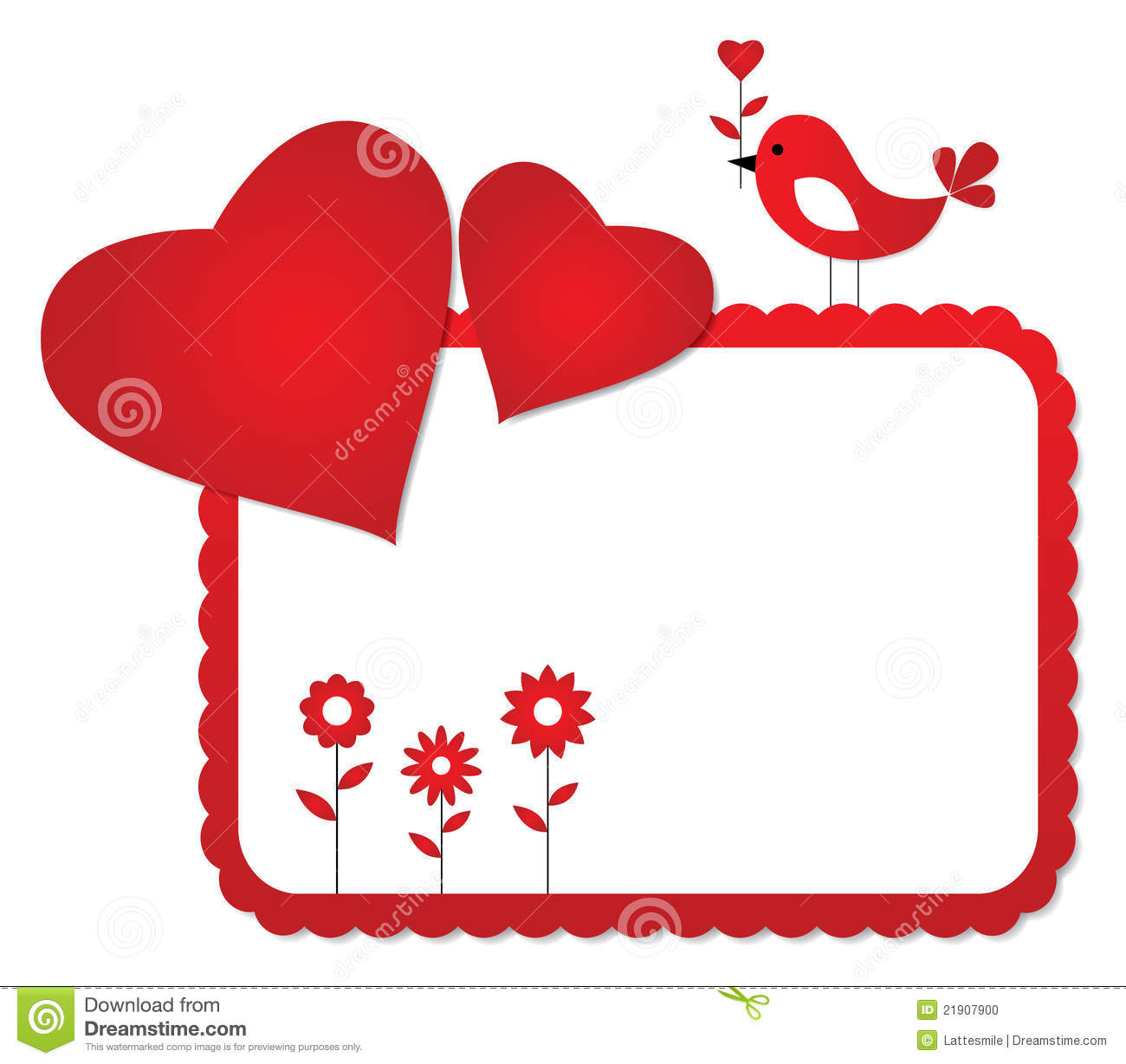 Valentines Day Frame Stock Vector Illustration Of Holiday 21907900