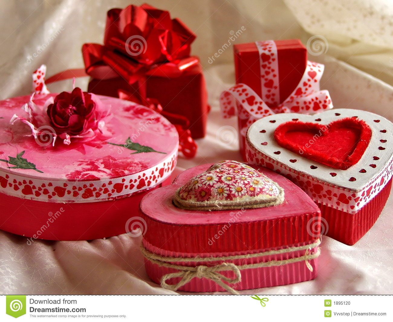 Valentine's Day Gift Boxes Stock Photo - Image: 1895120