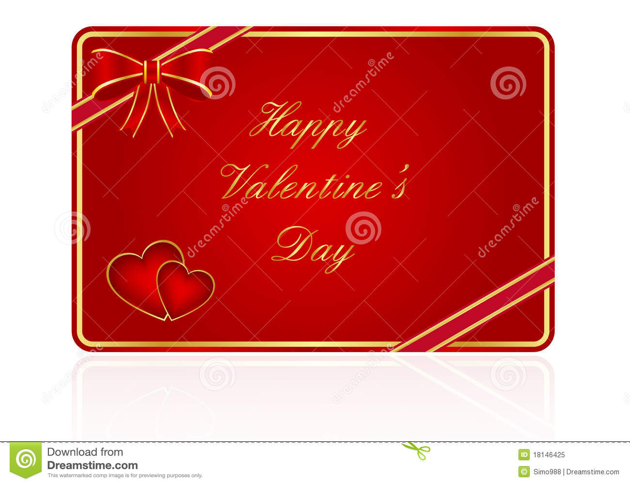 Valentines Day Gift Card Royalty Free Photo Image 18146425 – Valentines Day Gift Card