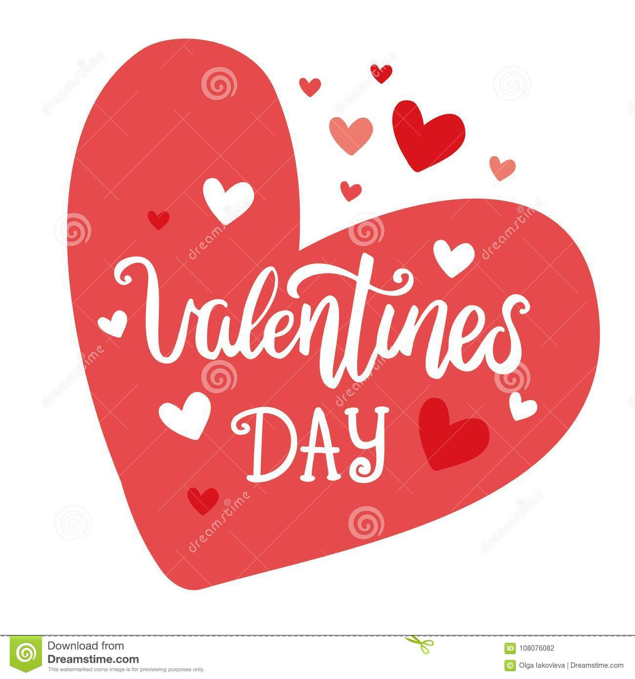 Valentine S Day Hand Drawn Vector Lettering Postcard Words And
