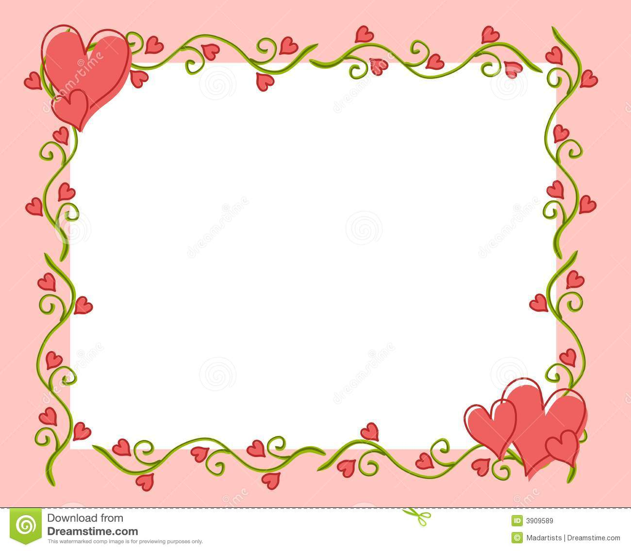 heart floral frame valentine - photo #16