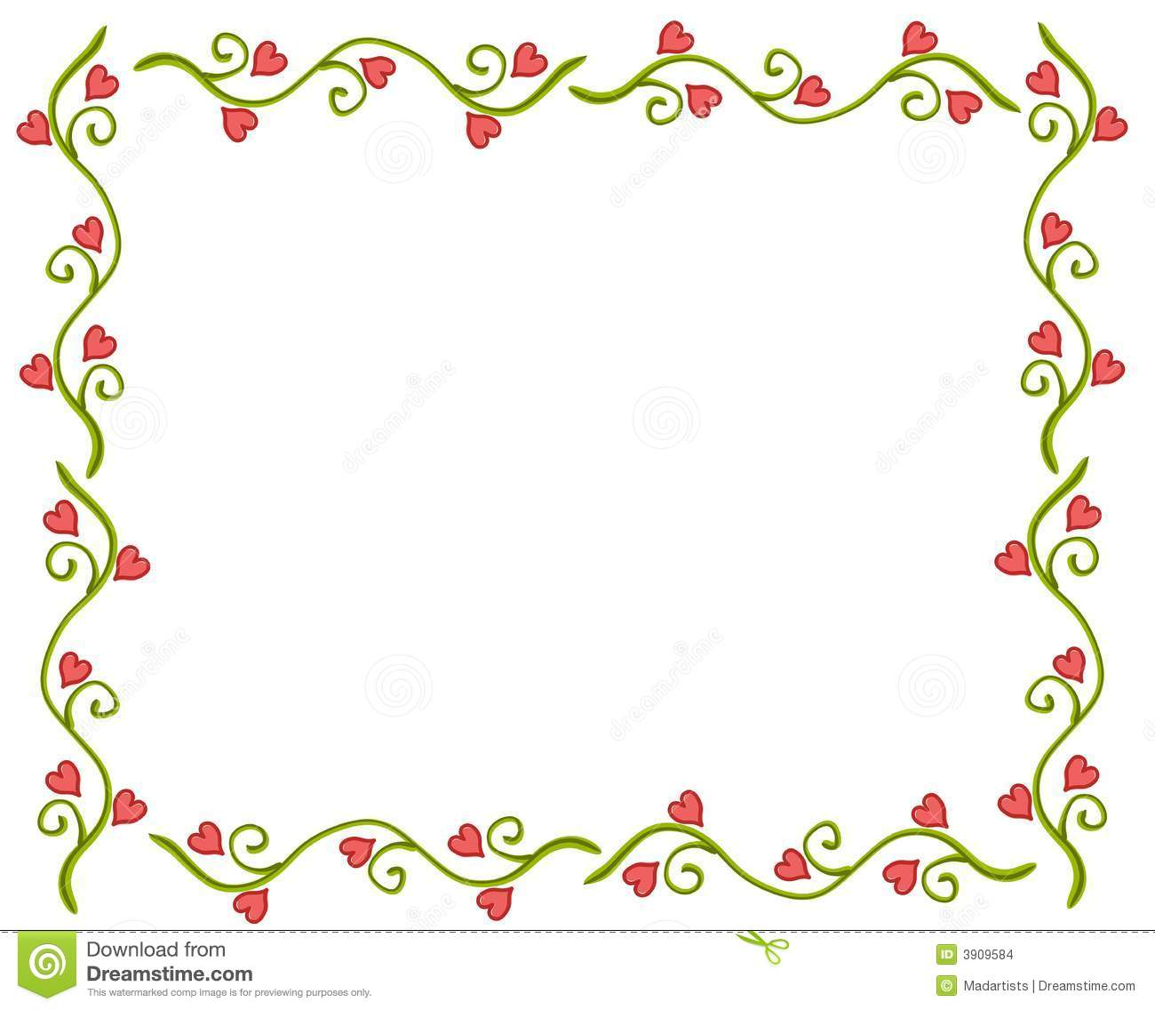 heart floral frame valentine - photo #9