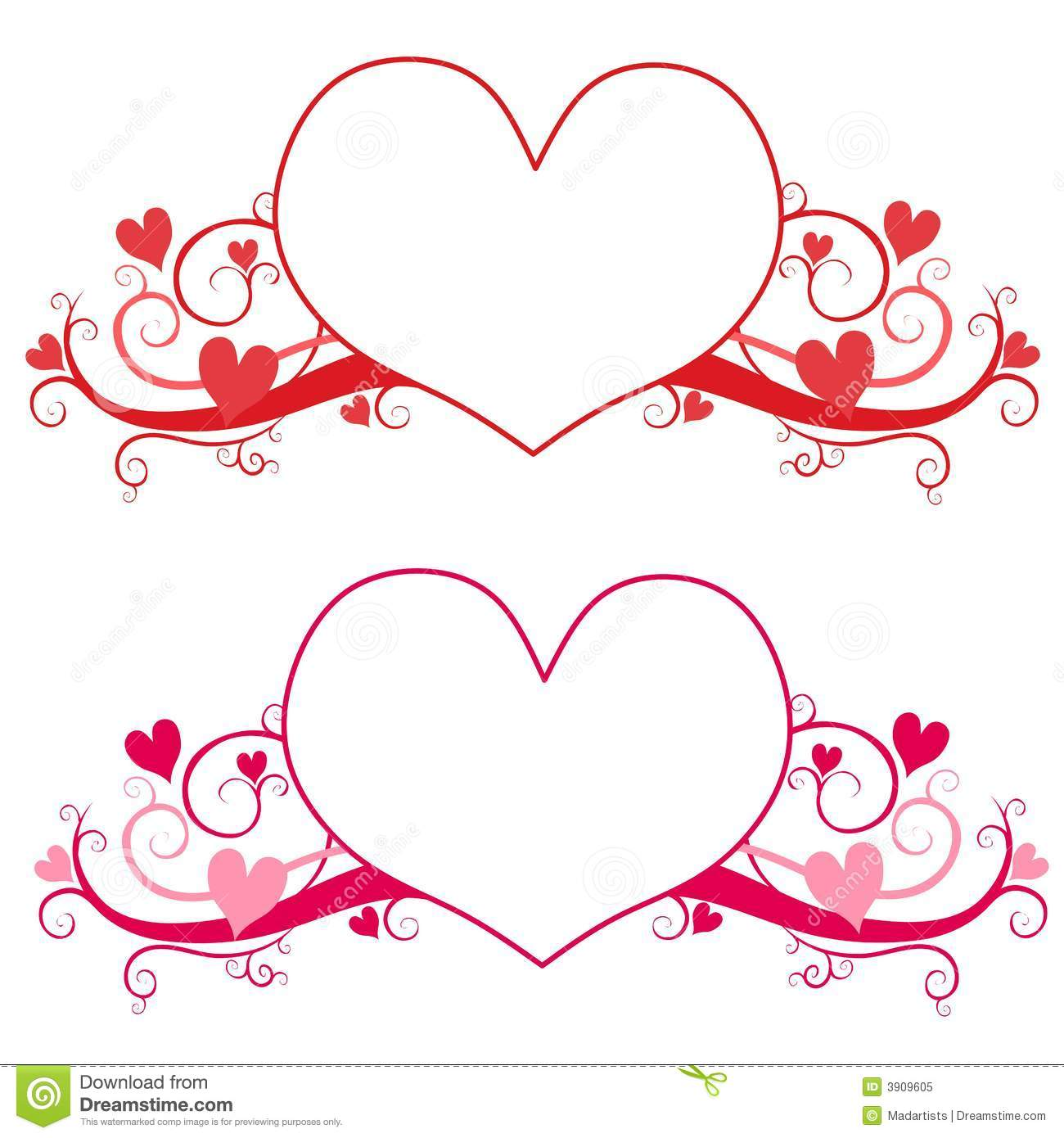 Valentine S Day Heart Logo Or Labels Stock Illustration