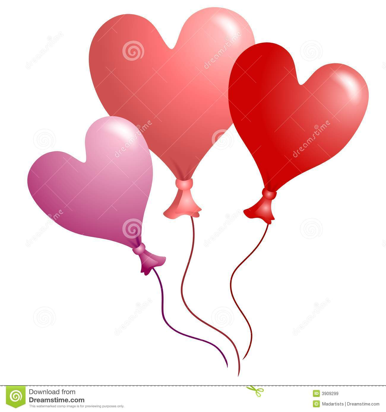Valentine's Day Heart Shaped Balloons 2 Royalty Free Stock Images