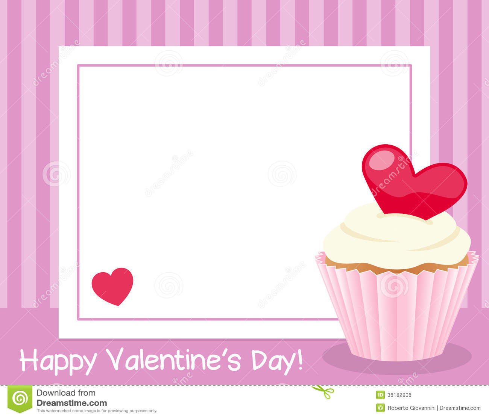 valentine s day horizontal frame stock vector