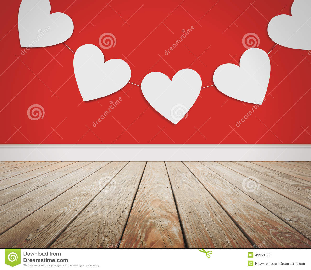 Valentine S Day Love Hearts On Red Background Stock Photo Image Of