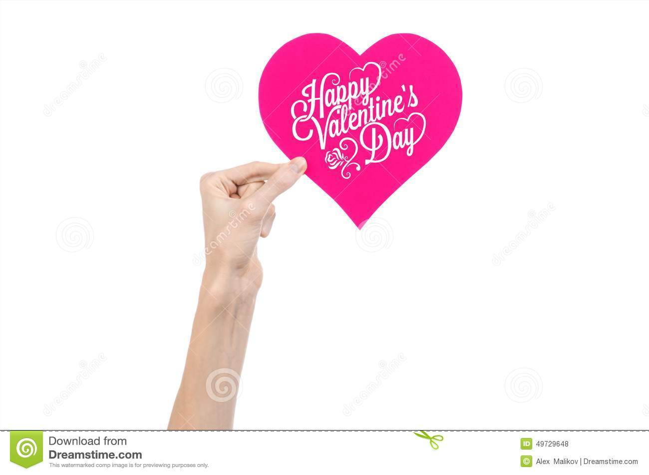 Valentines day and love theme hand holds a greeting card in the valentine s day and love theme hand holds a greeting card in the form of a pink heart with the words happy valentine s day background happiness kristyandbryce Images