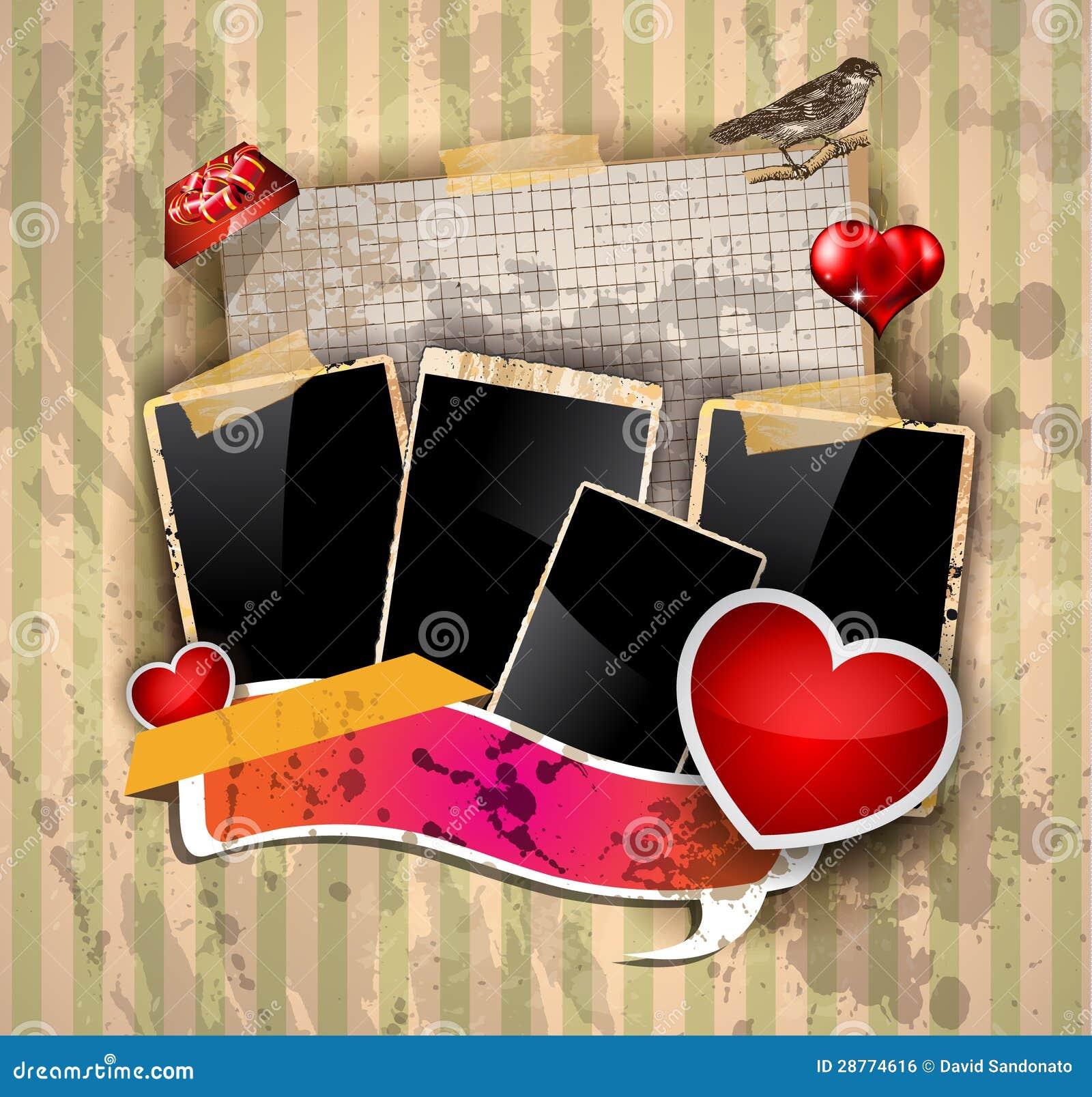 Valentine\'s Day Party Invitation Flyer Stock Illustration - Image ...