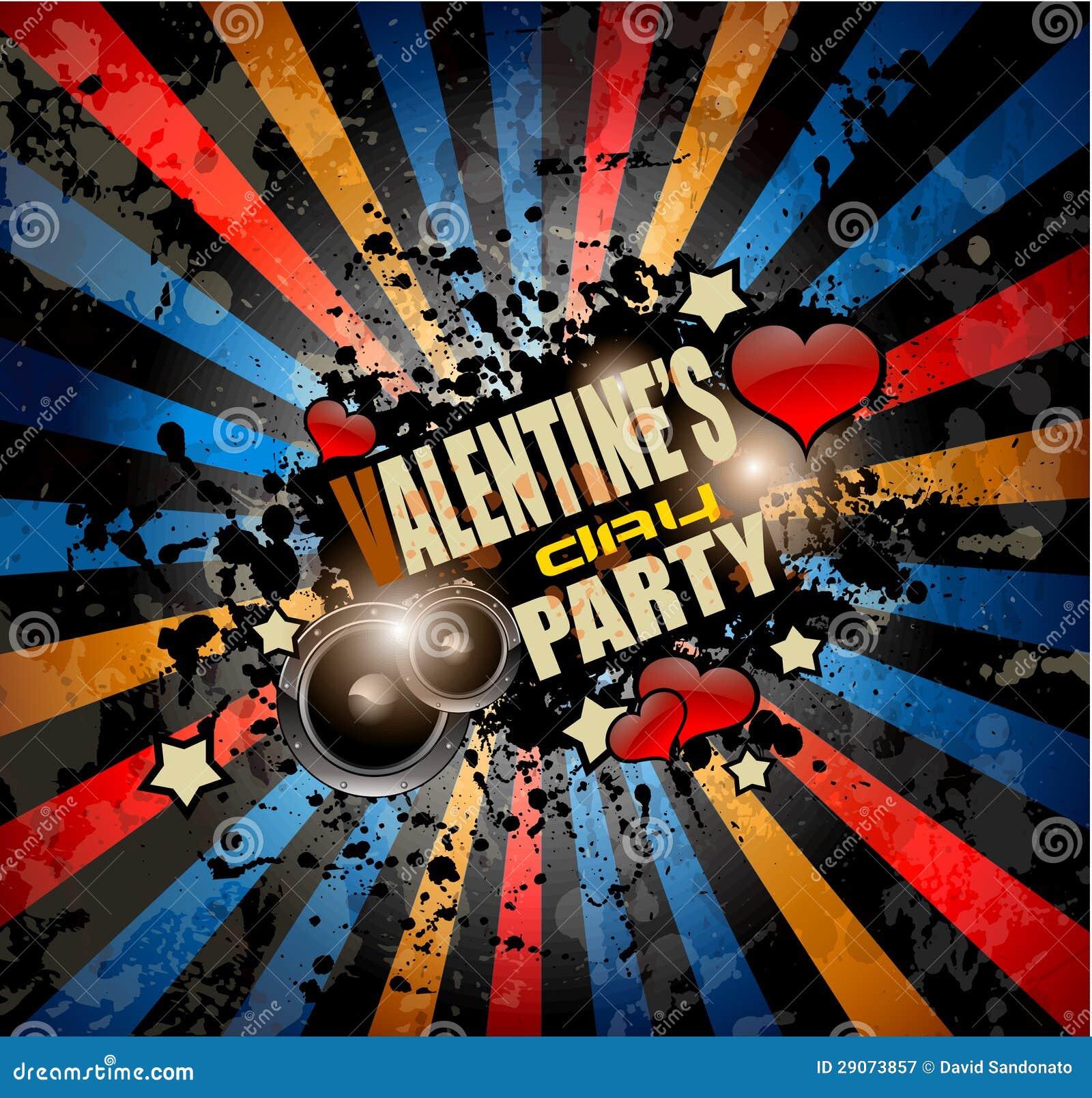 Valentine\'s Day Party Invitation Flyer Background Stock Illustration ...