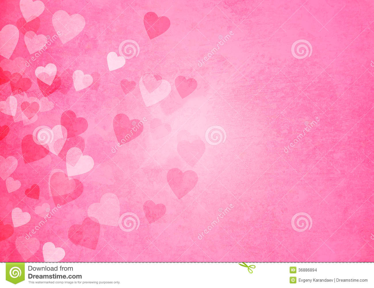 valentines day pink hearts background stock illustration