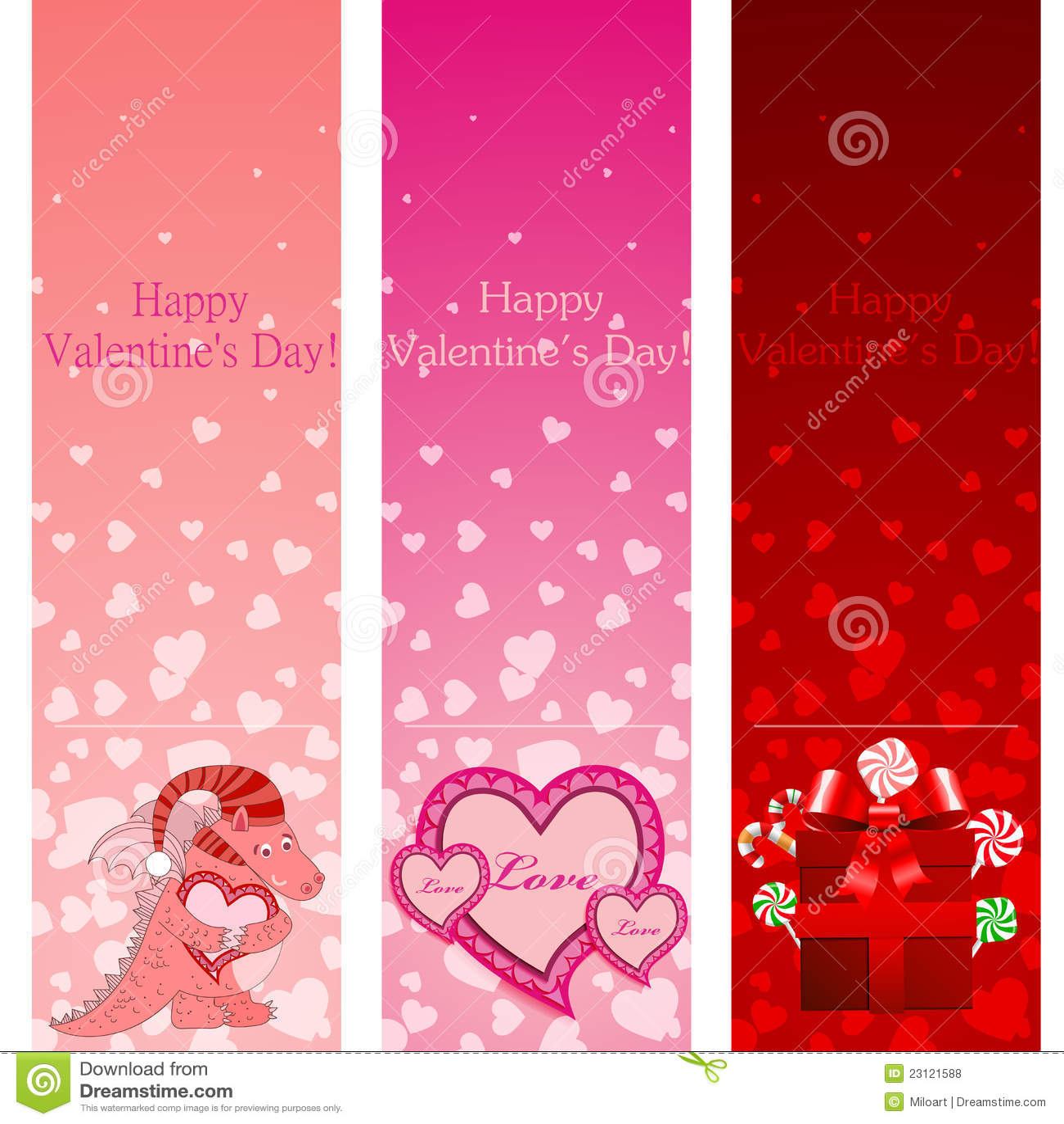 Valentine's Day Pink V...W Letter Design