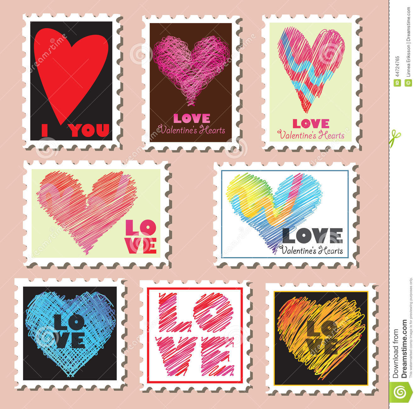 Valentine S Day Post Stamps