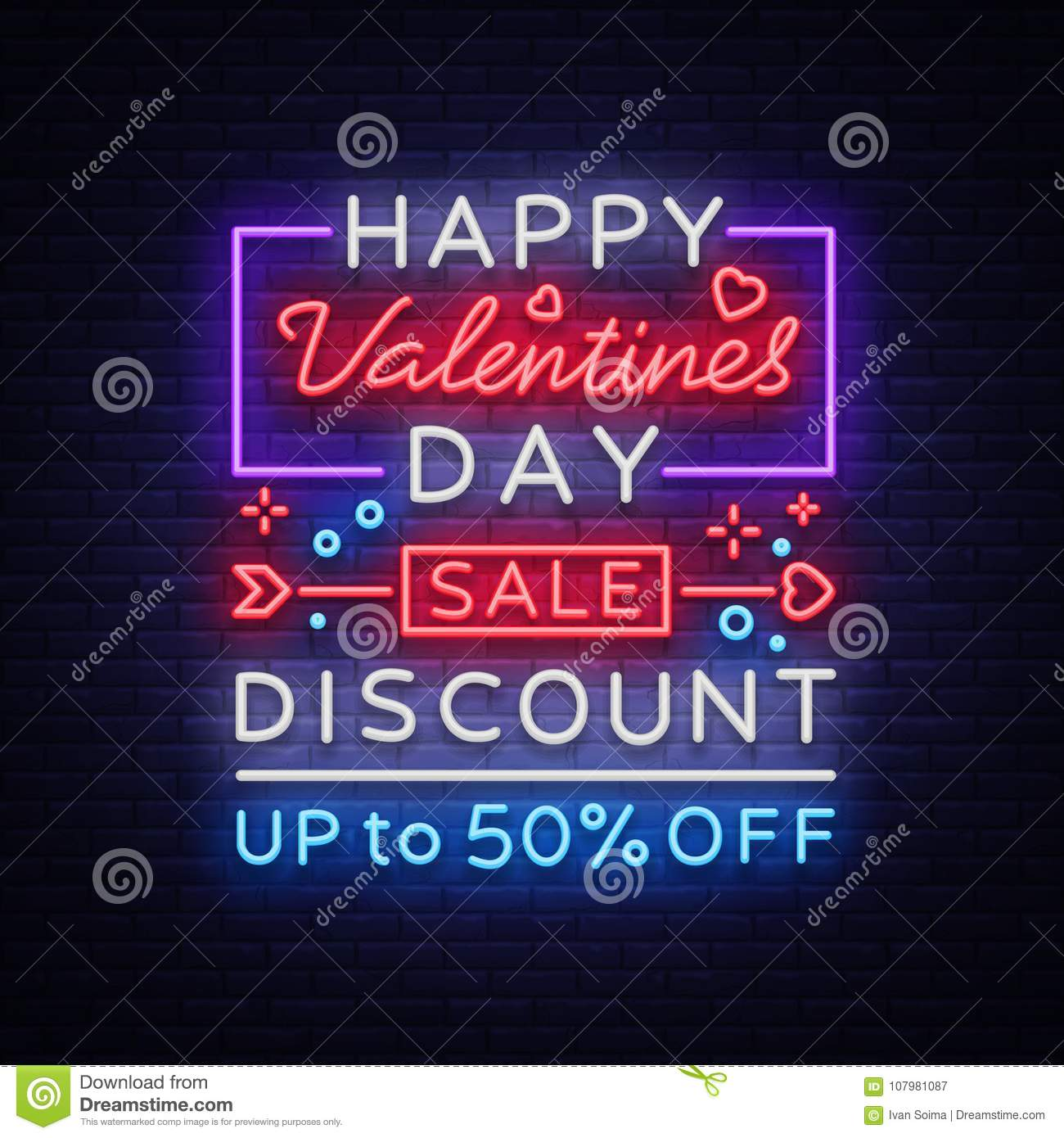 valentine s day is a proposal a neon style banner template neon